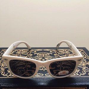 Accessories - Foldable Compact Travel Sunglasses White w/ Logo